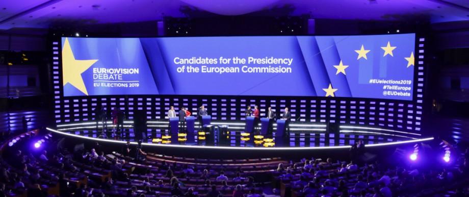 Europawahl: Debatte der Spitzenkandidaten im europäischen Parlament
