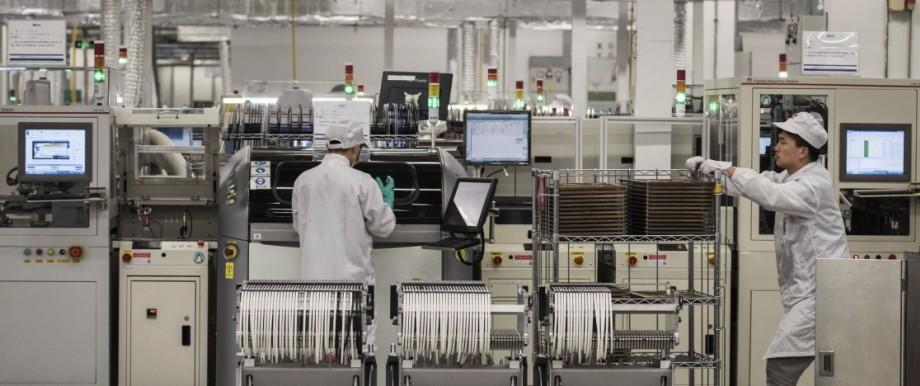 Produktionsstätte von Huawei in China