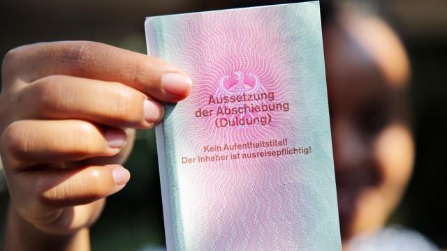 Ausweis für Flüchtlinge, die in Deutschland geduldet werden