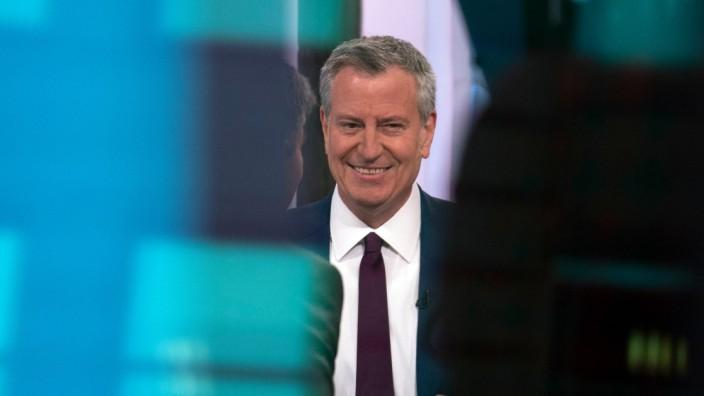 New Yorks Bürgermeister Bill de Blasio verkündet 2019 seine Präsidentschaftskandidatur