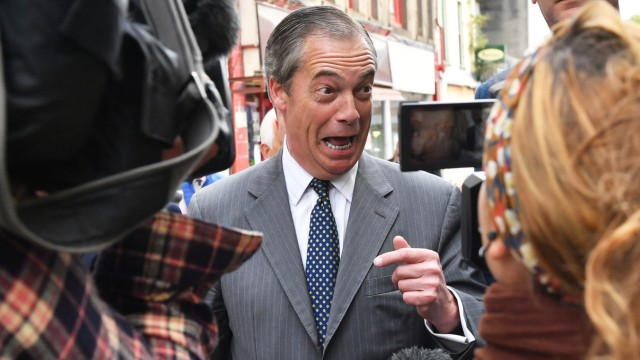 Nigel Farage vor den Europawahlen 2019
