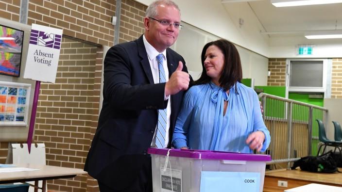 Parlamentswahl in Australien begonnen