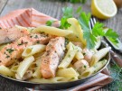 Rezept Pasta Nudeln Lachs Erbsen Sahne Sauce