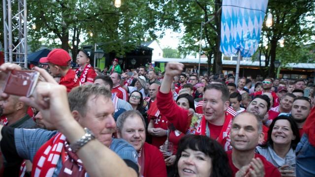 Fanfest Deutsche Meisterschaft FC Bayern bei Paulaner am Nockherberg