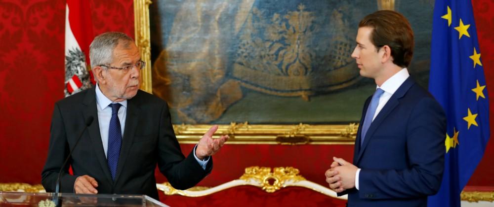 Austria's Chancellor Kurz meets Austrian President Van der Bellen, in Vienna