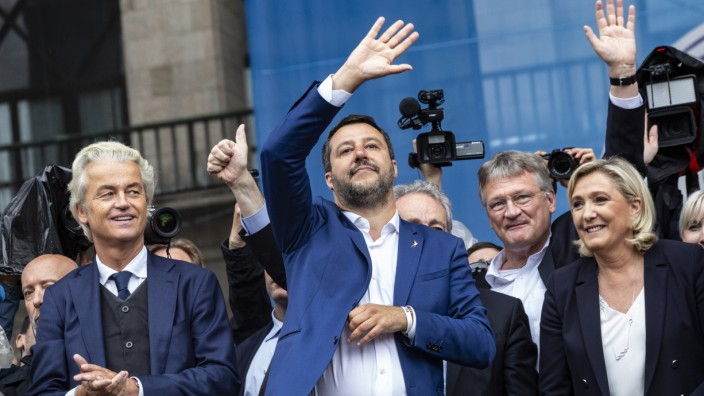 Italy's Deputy PM Matteo Salvini Campaigns Ahead Of EU Elections