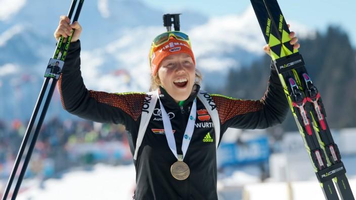 Biathlon 19 02 2017 IBU Weltmeisterschaften Hochfilzen AUT 12 5 km MASSENSTART Damen Frauen DAHLMEI