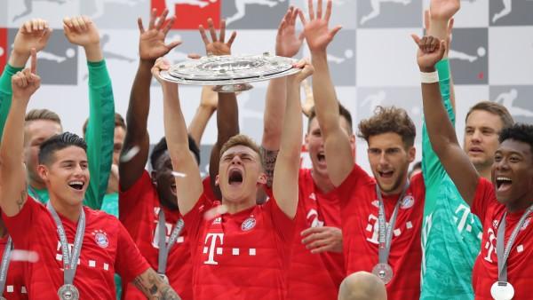 Der FC Bayern feiert die Deutsche Meisterschaft 2019