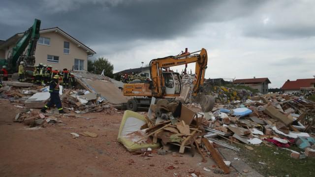 Wohnhaus explodiert