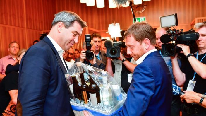 Treffen der Ministerpräsidenten von Bayern und Sachsen