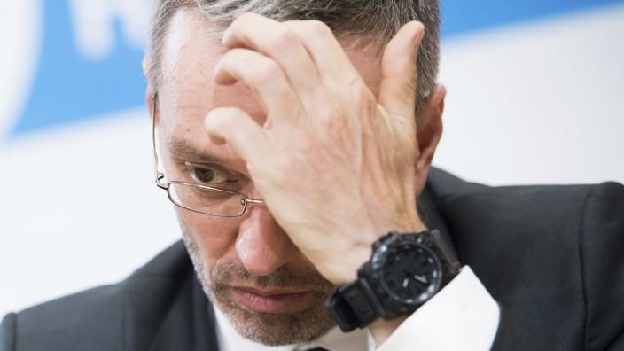 Österreich - Innenminister Herbert Kickl (FPÖ)