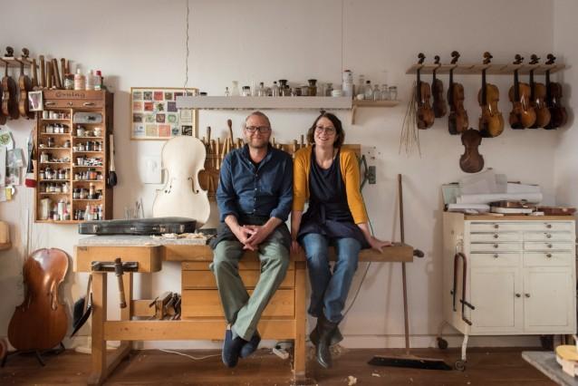 Geigenbauer Dorothea Stumpf und Matthias Bergmann