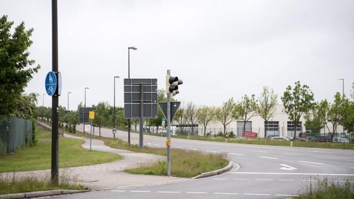 Ikea-Parkhaus Überblick Gewergebiet