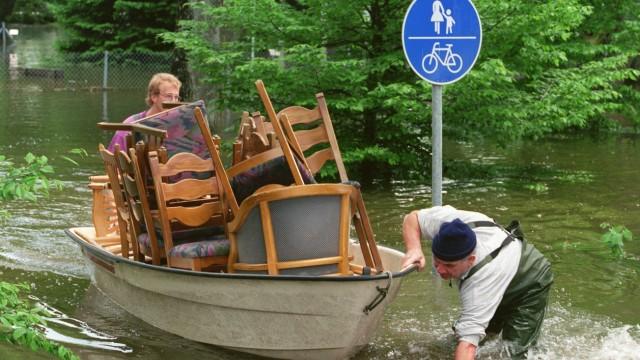 Hochwasser Möbel im Boot