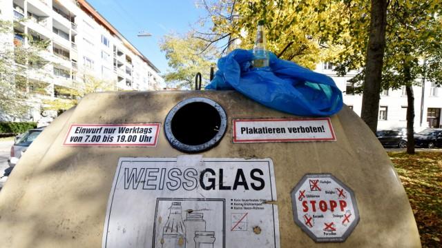 Flaschensammler in München, 2017