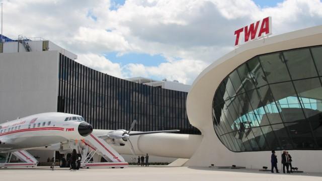 Das ehemalige TWA-Terminal am John-F.-Kennedy-Airport in New York ist jetzt ein Luxushotel.