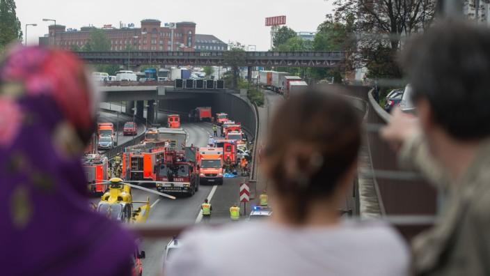 Stadtautobahn nach Karambolage gesperrt