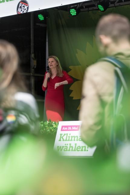 Wahlkampfveranstaltung der Grünen auf dem Marienplatz