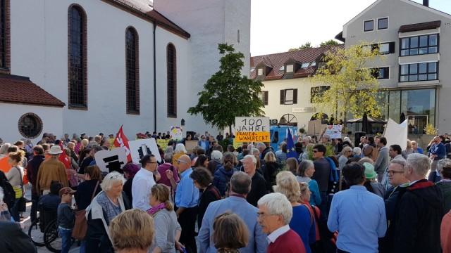 Starnberg AfD-Gegendemo in Starnberg