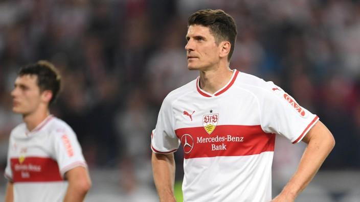Mario Gomez vom VfB Stuttgart in der Relegation 2019 gegen Union Berlin
