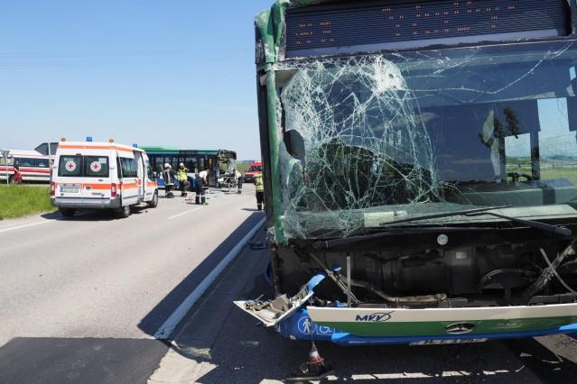 Busunfall Schulbusunfall Bus Glonn
