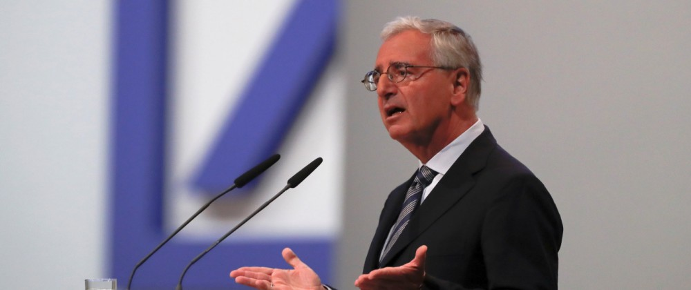 Chairman of the board Paul Achleitner attends the annual shareholder meeting of Deutsche Bank in Frankfurt