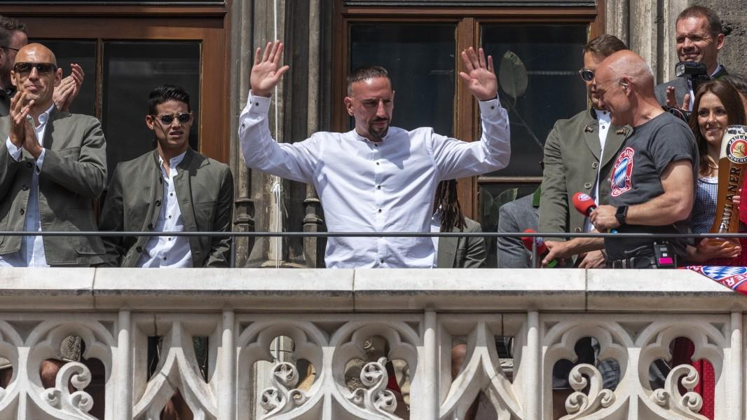 Die Fans feiern vor allem Franck Ribéry