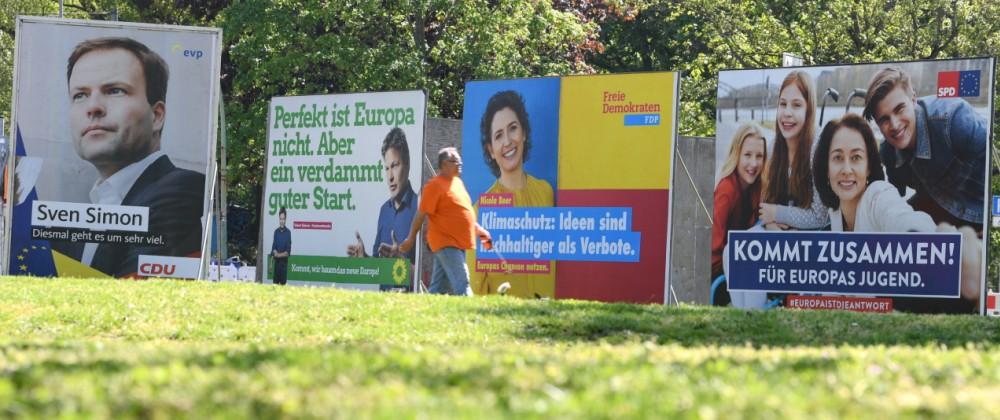Europawahl - Wahlplakate in Frankfurt/Main