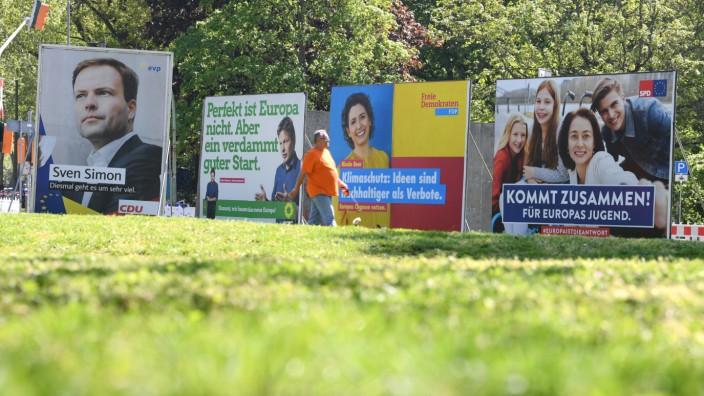 Europawahl 2019 - Wahlplakate in Frankfurt am Main