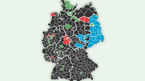 Europawahl 2019 - Landkreis-Ergebnisse in Deutschland