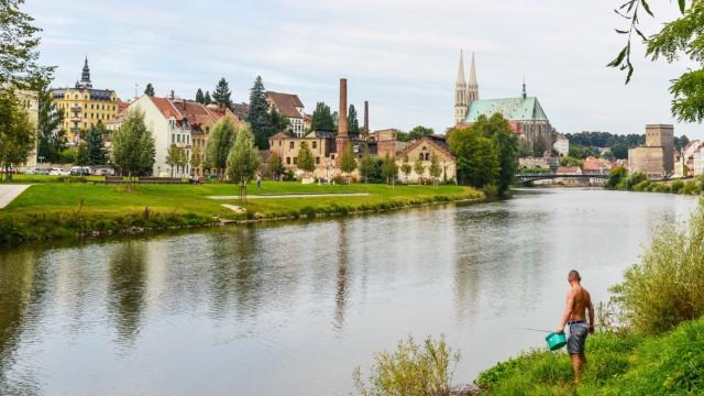 Blick auf Görlitz von ZgorzelecBlick auf Görlitz von Zgorzelec Polen am Ostufer der Neisse aufgen