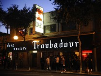 Outside the Troubadour for Carly Rae Jepsen Emotion album release party at The Troubadour on August