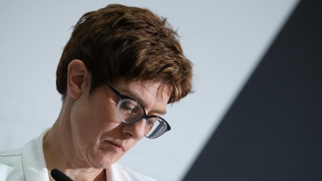CDU-Chefin Annegret Kramp-Karrenbauer nach der Europawahl 2019