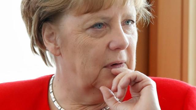 Angela Merkel in der CDU-Zentrale nach der Europawahl 2019