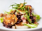 CWD Black sticky rice porridge with scallops, glazed turnip, Tonkin jasmine and
