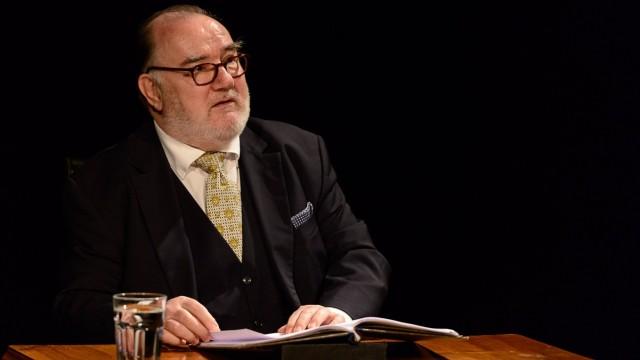 Eröffnung der Theatertage Wasserburg 2019  künstlerischer Leiter Uwe Bertram Schauspieler Udo Samel Klarinettist Jure Robek