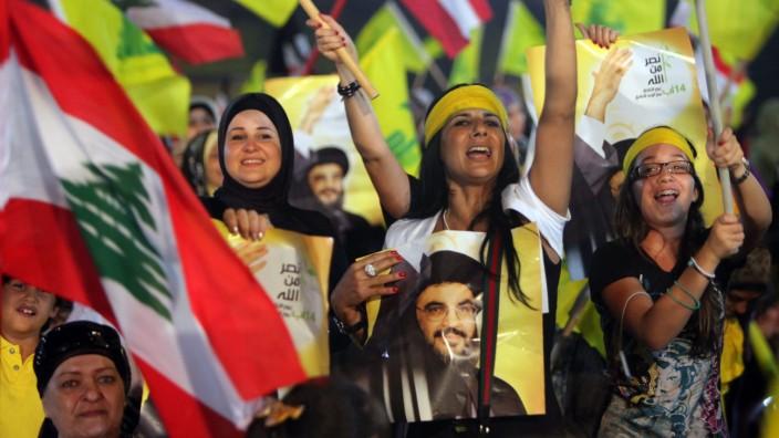 Kundgebung der Hisbollah zum vierten Jahrestag des Libanonkrieges