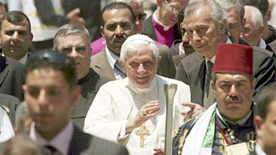 Benedikt XVI. in Nahost
