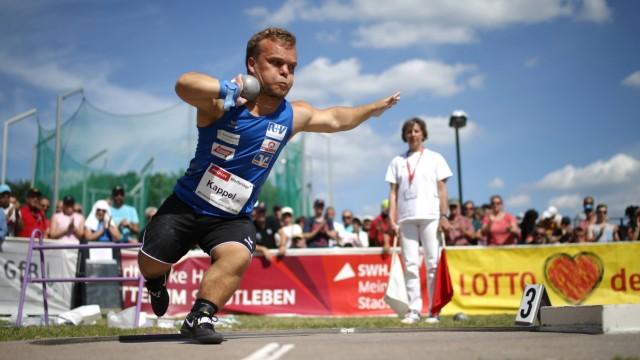 010619 Halle Saale Leichtathletik Sachsen Anhalt Hallesche HALPLUS Werfertage Sportzentrum Branberg