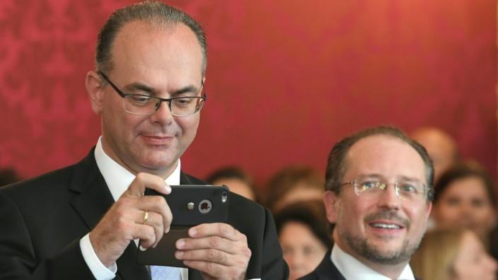 Ernennung der neuen Regierung in Österreich