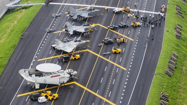 Militärische Übungen in Taiwan