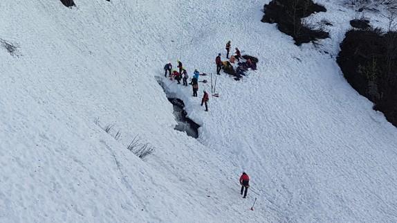 Alpinunfall im Kleinwalsertal, Österreich