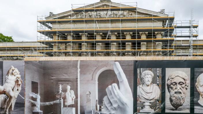 Sanierung der Glyptothek in München, 2019