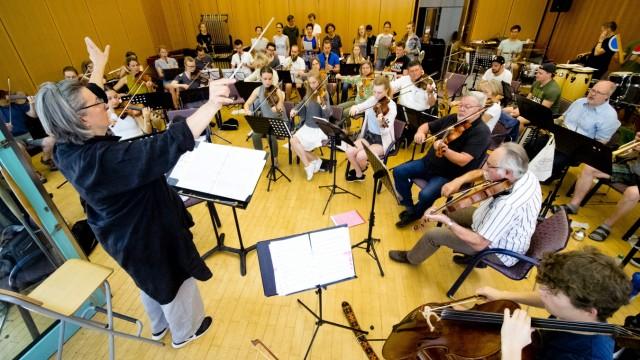 Jugendorchester Grafing - Probe für Adventskalender Benefizkonzert