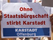 Karstadt, Demonstration, ddp