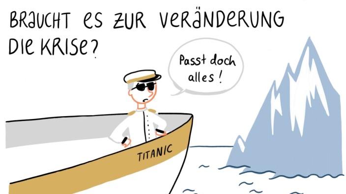Kapitän quer Lisa Frühbeis Livezeichnung
