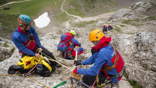 Bergwacht Pressekonferenz Bad Tölz, Fotos von Einsätzen