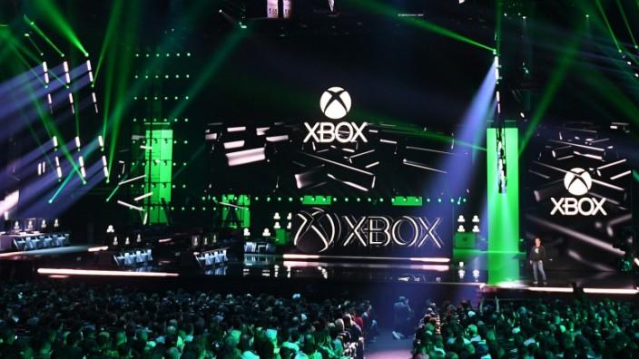 Microsoft Xbox presser at E3 video game conference
