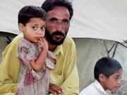 Swat-Tal-Flüchtlinge in einem Auffanglager in Pakistan, dpa