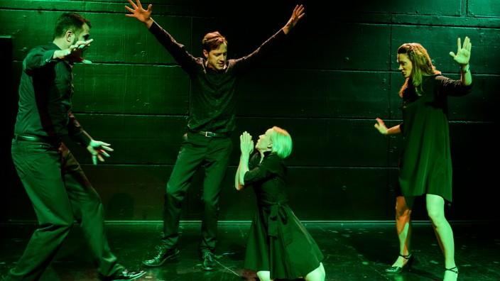Wasserburger Theatertage 2019, La Triviata: Andreas Dellert, Burkhard Kosche, Sibylla Duffe und Maria Helgath.